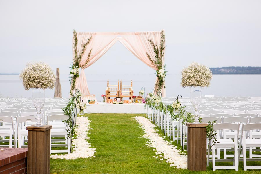 ceremony with water in background